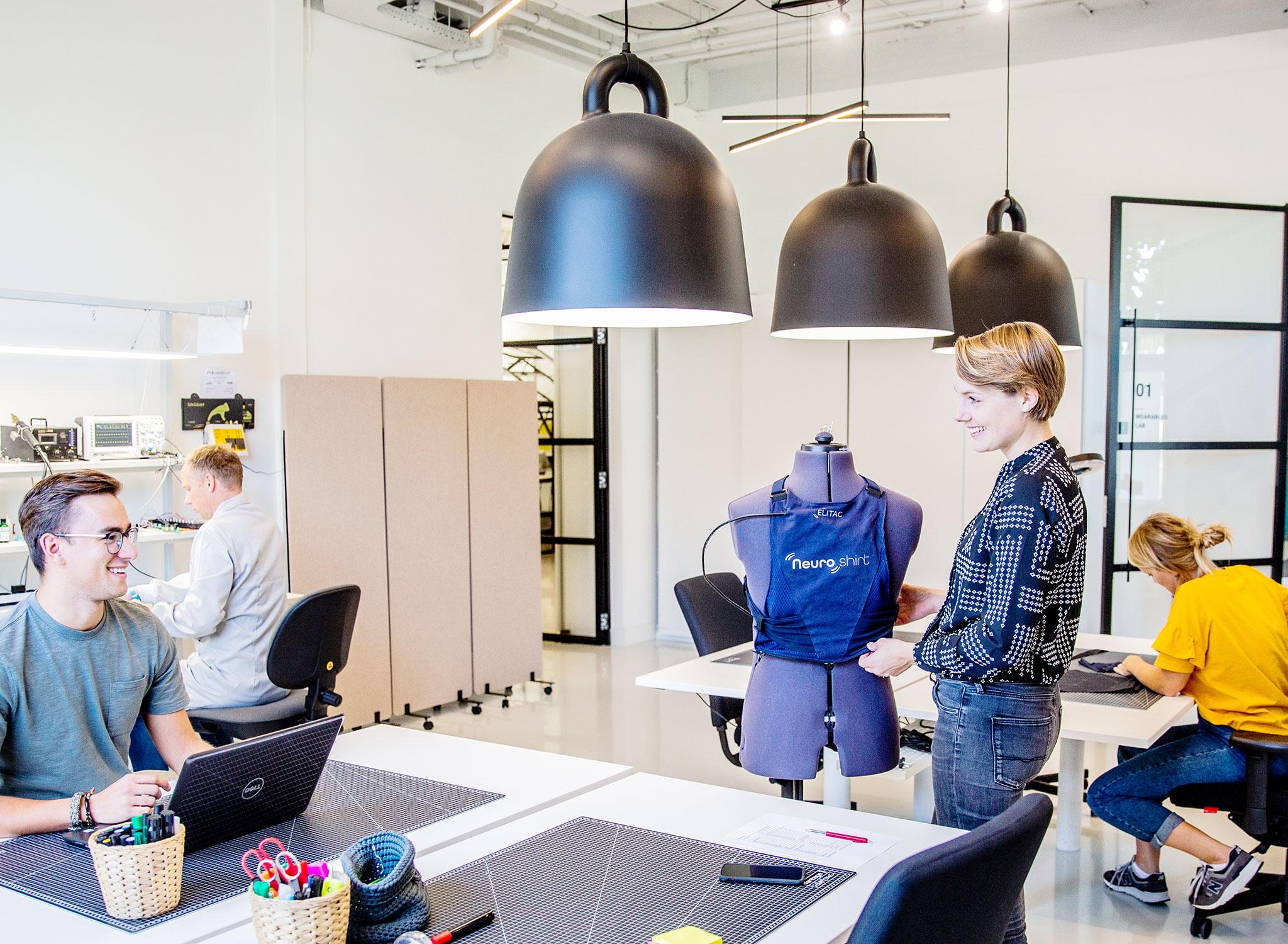 Elitac Wearables lab team at work